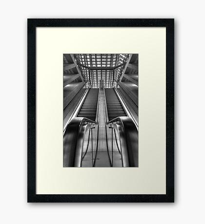 Escalator railwaystation Framed Print