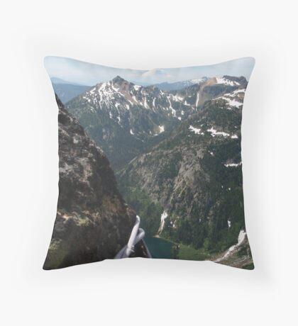 Can you see Rainier? climbing Cascades, Washington Throw Pillow