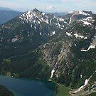 Rainier and Mt Daniels, Cascade mountains, Washington by LichenRockArts