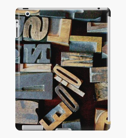 "Typesetting - The Letter ""N"" iPad Case/Skin"