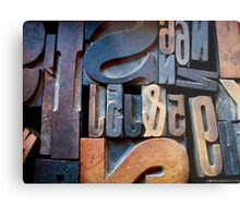 "Typesetting - The Number ""2"" Metal Print"