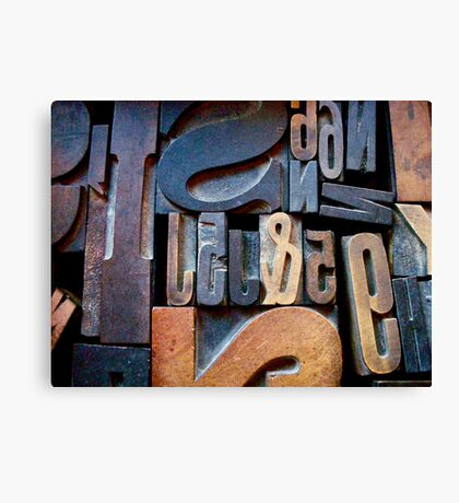 """Typesetting - The Number """"2"""" Canvas Print"""