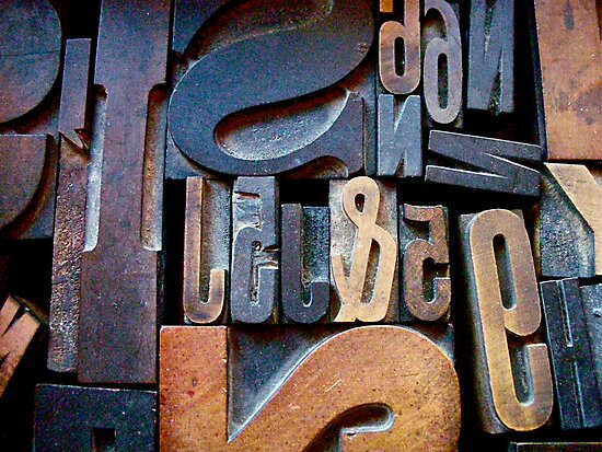 "Typesetting - The Number ""2"" by Mary Ellen Garcia"