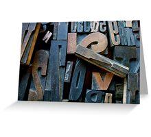 "Typesetting - Letter ""!"" Greeting Card"