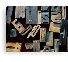 "Typesetting - The Letter ""E"" Canvas Print"