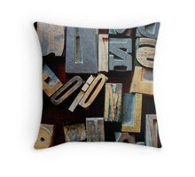"Typesetting - The Letter ""E"" Throw Pillow"