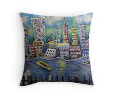 East River NYC  Throw Pillow