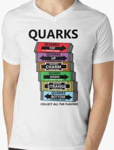 Quarks, can you collect all the flavors? Mens V-Neck T-Shirt