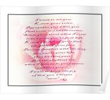 Rumi Quote - Roses - Guide Poster