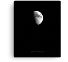 Half Moon - January 20th, 2013 - Middle Island, New York  Canvas Print
