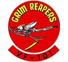 VF-101 Grim Reapers Logo Photographic Print