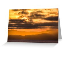 Sunset over Vancouver Island, Canada  Greeting Card