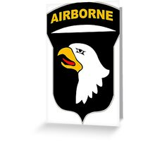 Logo of the SCREAMING EAGLES Airborne Division Greeting Card