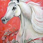 White Arabian Horse by ApolloniaArt