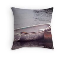 White Rowboat Throw Pillow