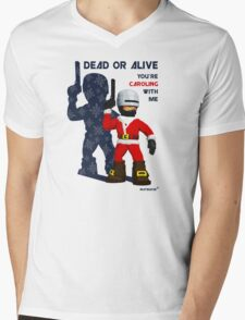 Robo Santa Mens V-Neck T-Shirt