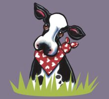 Cow n' Heart Scarf Kids Clothes