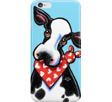 Cow n' Heart Scarf iPhone Case/Skin