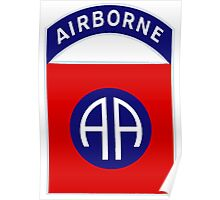 Logo of the Eighty-Second Airborne! Poster