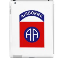 Logo of the Eighty-Second Airborne! iPad Case/Skin