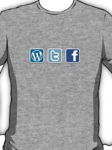 WTF social media icons T Shirt T-Shirt