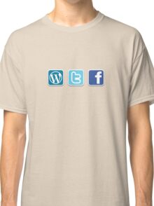 WTF social media icons T Shirt Classic T-Shirt
