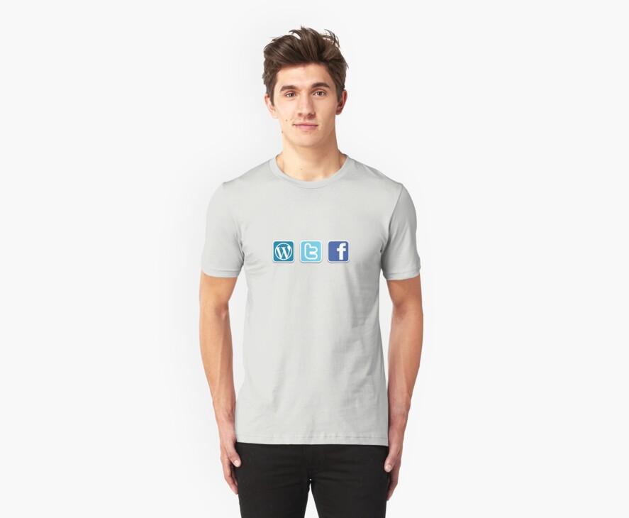 WTF social media icons T Shirt by PixelRider
