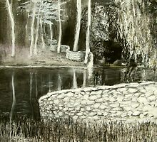 charcoal landscape andy drywall by donnamalone