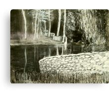 charcoal landscape andy drywall Canvas Print