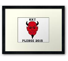 KKT PLEDGE 2015 Framed Print