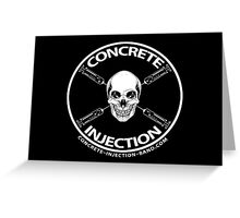 concrete injection skull logo Greeting Card