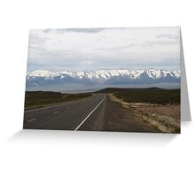 Loneliest Highway in America,outside Fallon Nevada,USA Greeting Card