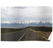 Loneliest Highway in America,outside Fallon Nevada,USA Poster