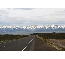 Loneliest Highway in America,outside Fallon Nevada,USA Photographic Print