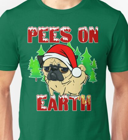 Pees on Earth Pug Unisex T-Shirt