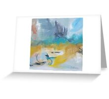 Avoca Beach - Abstract artwok by Belinda Greeting Card