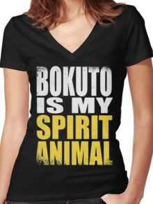 Bokuto is my Spirit Animal Women's Fitted V-Neck T-Shirt