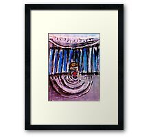 Stage set for a king, watercolor Framed Print