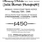 Travel notice by Julia  Thomas