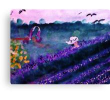 Garden of Flowers, watercolorGarden of Flowers, watercolor Canvas Print