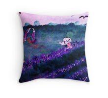 Garden of Flowers, watercolorGarden of Flowers, watercolor Throw Pillow