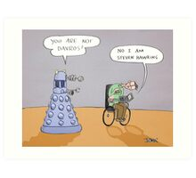 stephen and the dalek Art Print