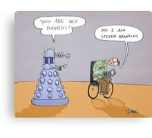 stephen and the dalek Canvas Print