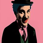 Charlie Chaplin with Pop Art Style by thejoyker1986