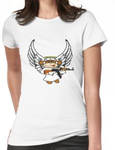 angel demon monkey!  Womens Fitted T-Shirt