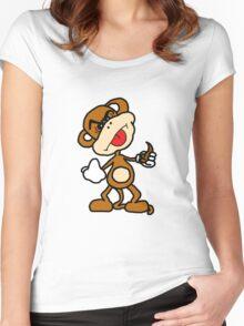 poop throwing monkey Women's Fitted Scoop T-Shirt