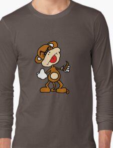 poop throwing monkey Long Sleeve T-Shirt