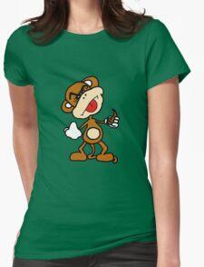 poop throwing monkey Womens T-Shirt