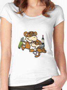 drunken monkeys Women's Fitted Scoop T-Shirt