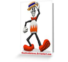 Bowling Pin Billy Greeting Card